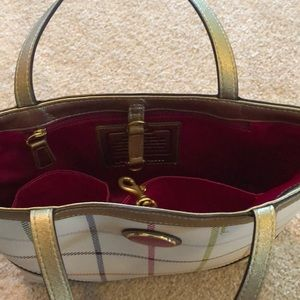 Coach Bags - Coach Peyton Tattersall Top Handle Tote Purse